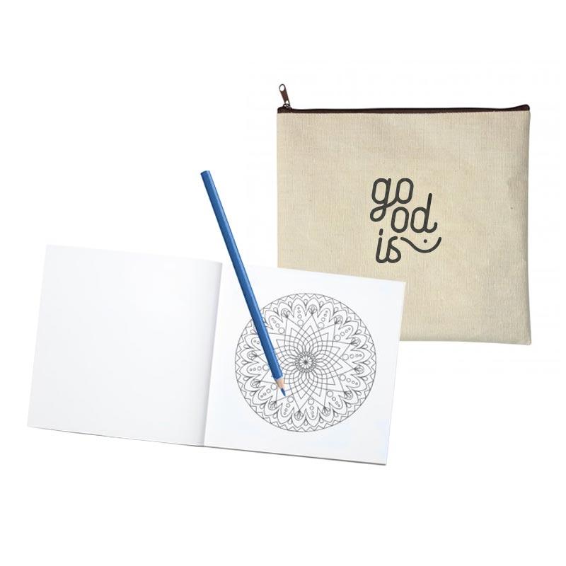 Set coloriage publicitaire Mandala - Cadeau d'entreprise