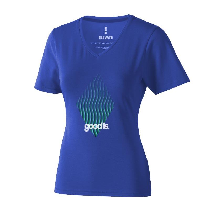 T-shirt bio personnalisé manches courtes pour femmes Kawartha - objet publicitaire événementiel
