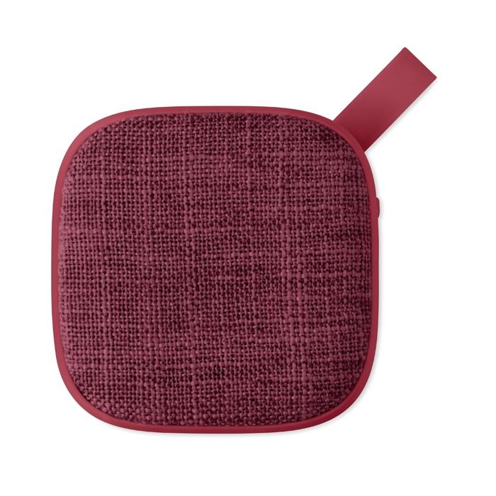 Haut-parleur Bluetooth® personnalisée carré Rock - rose
