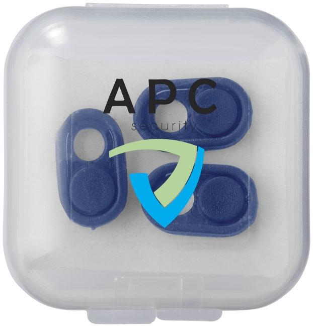 Accessoire publicitaire sécurité - Bloqueurs de caméras Sinpo  - blanc