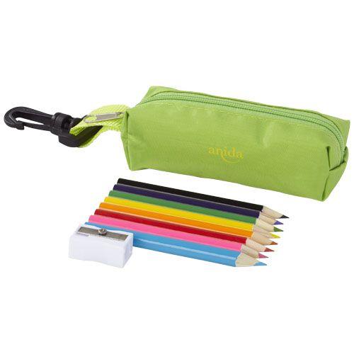 Trousse personnalisée avec crayons de couleur Kori