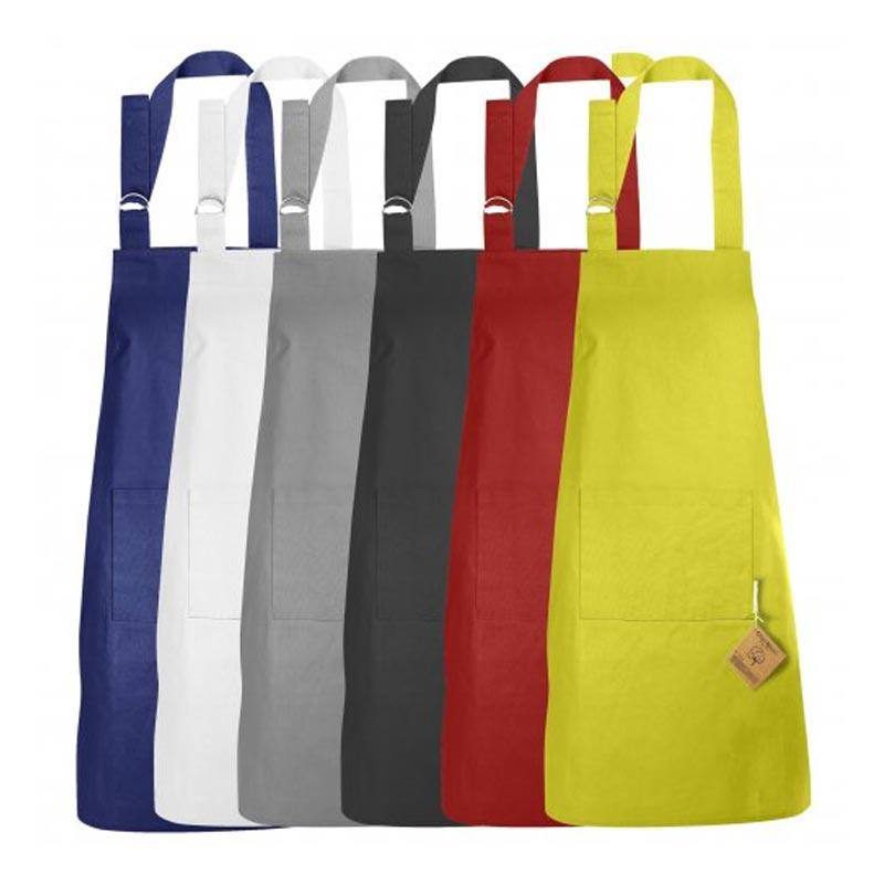 Tablier publicitaire en coton bio Master Cook 180 g - Coloris disponibles