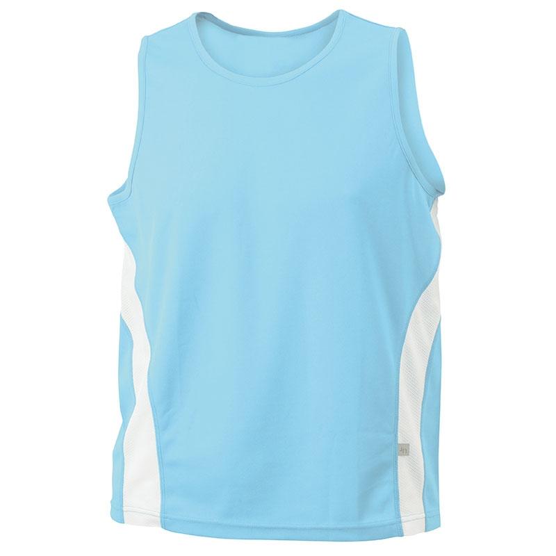 Tee-shirt personnalisable sans manches pour homme Running Topcool noir/rouge