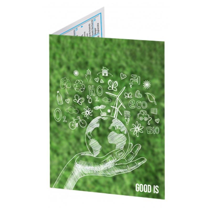 Calendrier de poche pliable en carton - Goodies écologique