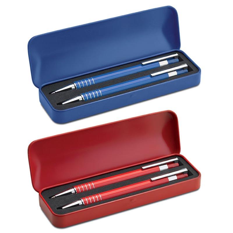 cadeau client - parure de stylos publicitaires aluminium Alucolor