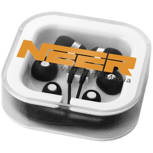 Écouteurs publicitaire Sargas avec micro - Cadeau publicitaire