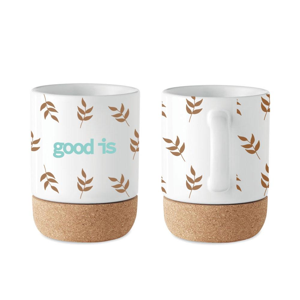 mug publicitaire avec fond en liège Subcork 3