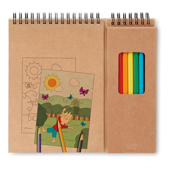 Cadeau publicitaire pour enfants: set de coloriage publicitaire Colopad