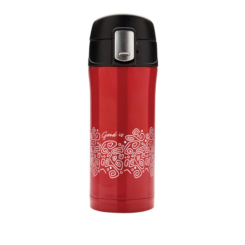 Mug isotherme publicitaire Bing rouge
