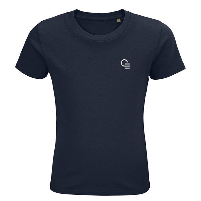 T-shirt publicitaire en coton bio pour enfant Pioneer - Coloris bleu