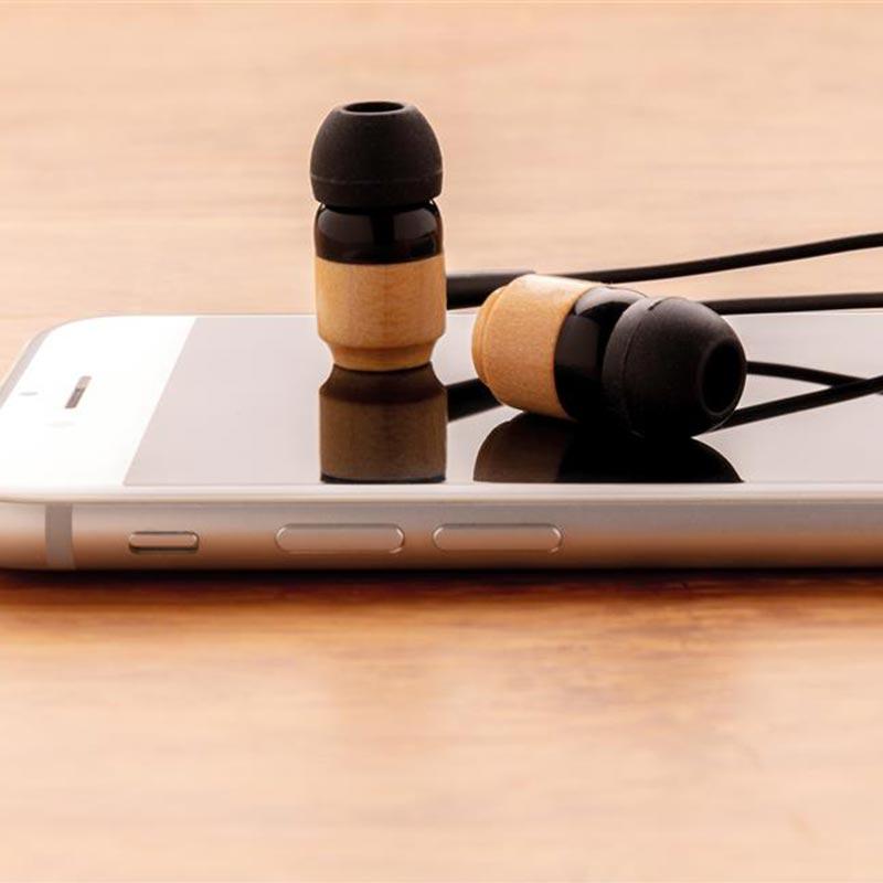 Cadeau d'affaires - Ecouteurs sans fil en bambou Kali