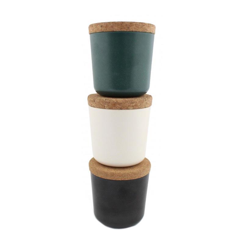 Kit de plantation publicitaire en bambou et couvercle en liège - Coloris disponibles
