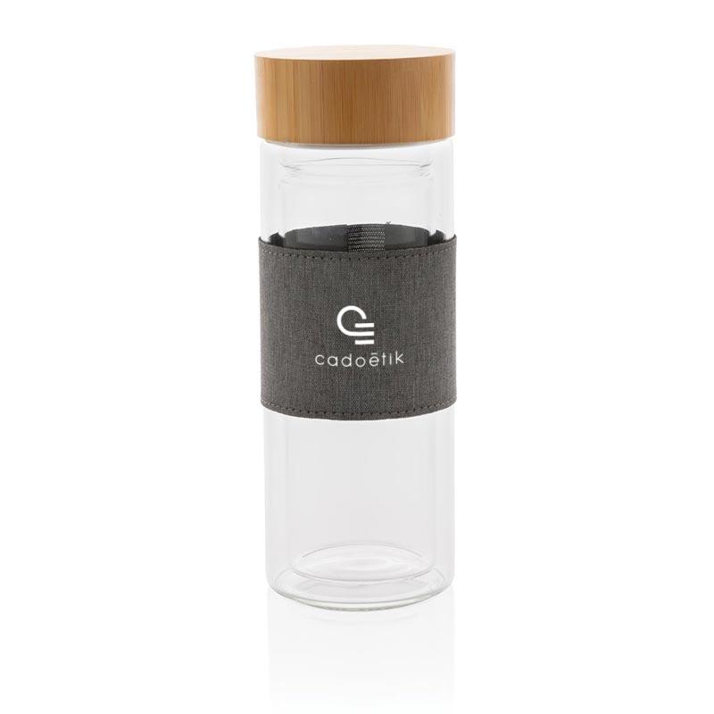 Bouteille isotherme en verre Impact personnalisable pour cadeau d'entreprise