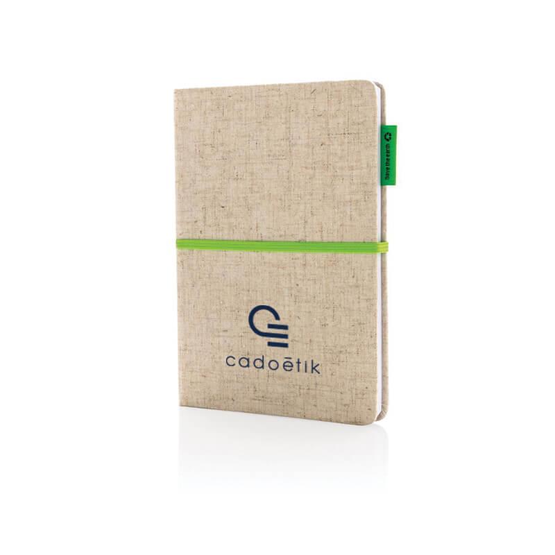 Carnet publicitaire - Carnet à couverture en jute et coton A5 Calhoun