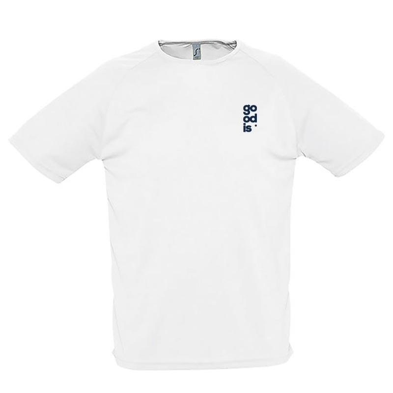 T-shirt publicitaire respirant homme Sporty 140 g - Coloris blanc