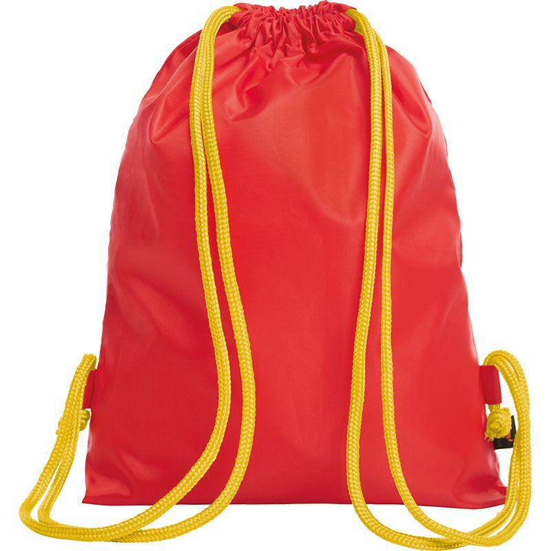 Sac à dos publicitaire bicolore Paint rouge - jaune