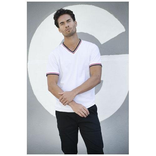 T-shirt personnalisable logo coton blanc pour homme Elbert