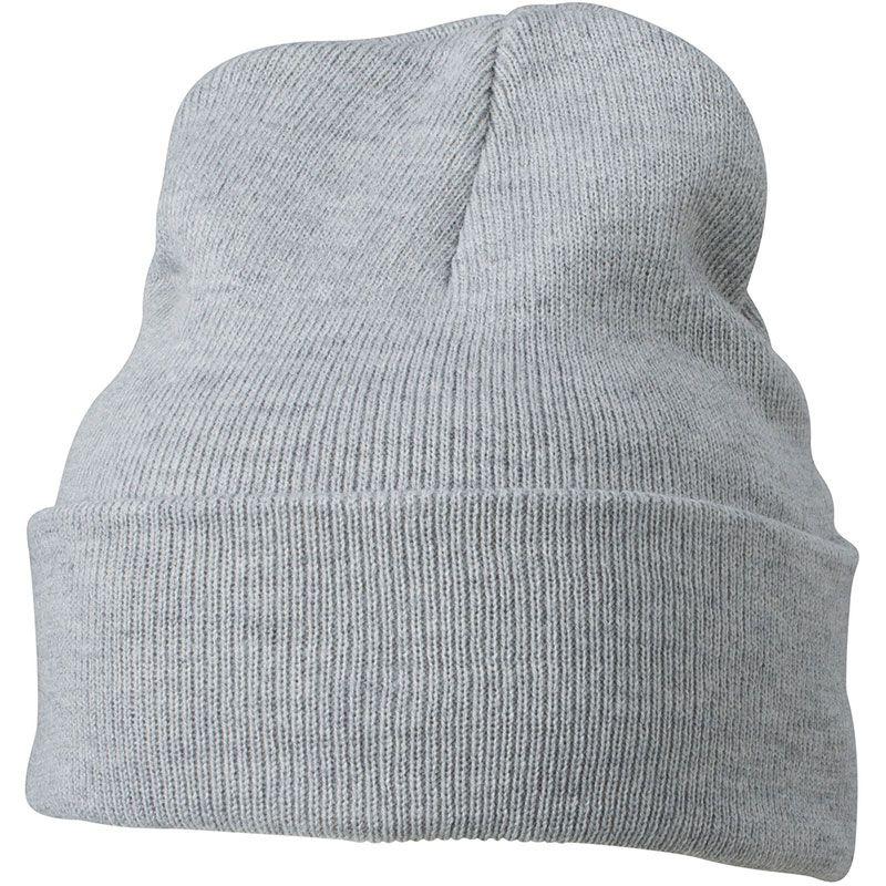 Cadeau publicitaire hiver - Bonnet publicitaire tricot à revers Snow - blanc