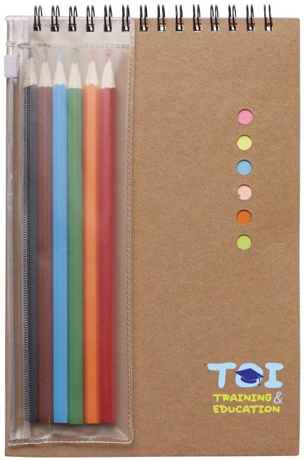 Set de coloriage Hoppi - carnet publicitaire