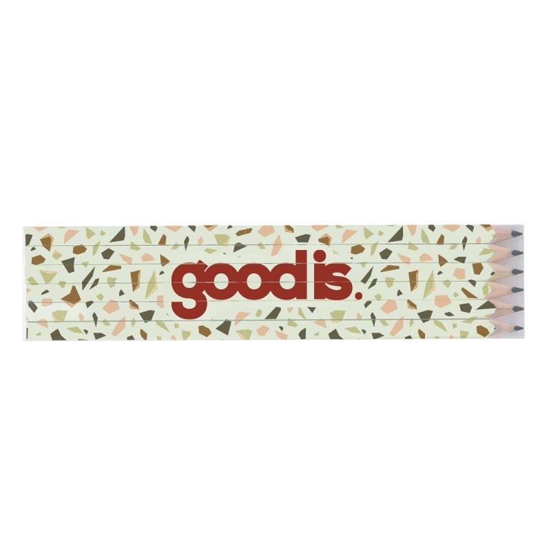 Set 6 crayons papier publicitaire écolos quadri 17,6 100% personnalisable