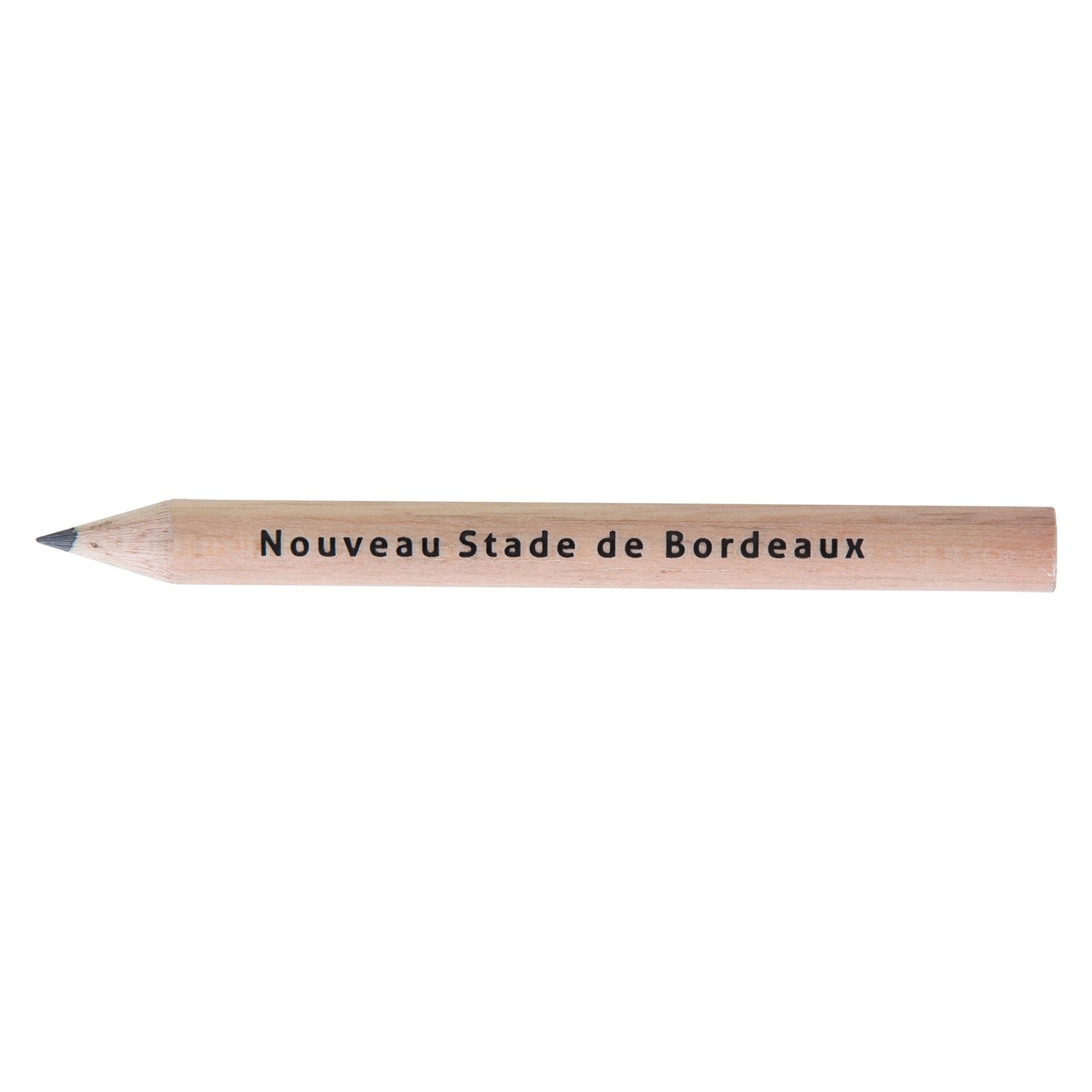 Crayon à papier publicitaire - Crayon à papier personnalisé Prestige naturel 8,7 cm incolore