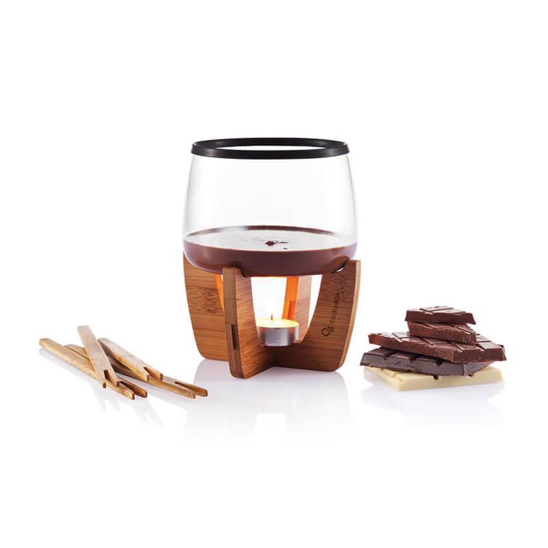 Cadeau publicitaire de fin d'année - Set de fondue au chocolat Cocoa