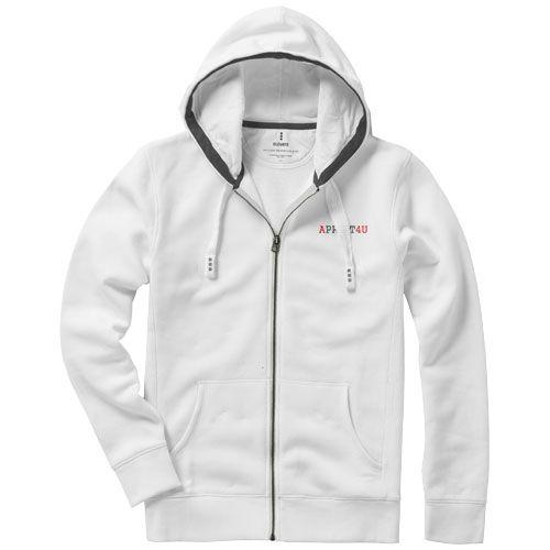 veste à capuche personnalisable blanche