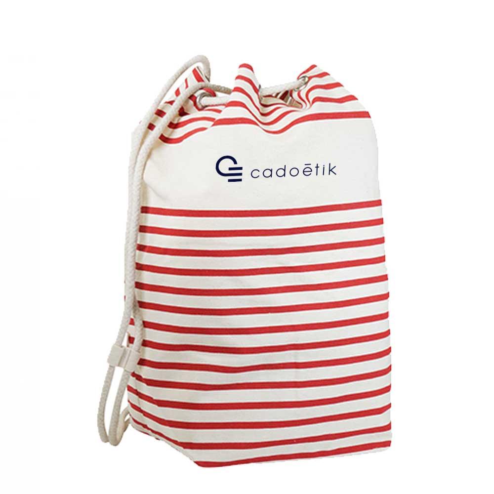 Sac marin personnalisé Deauville rouge - sac marin personnalisable