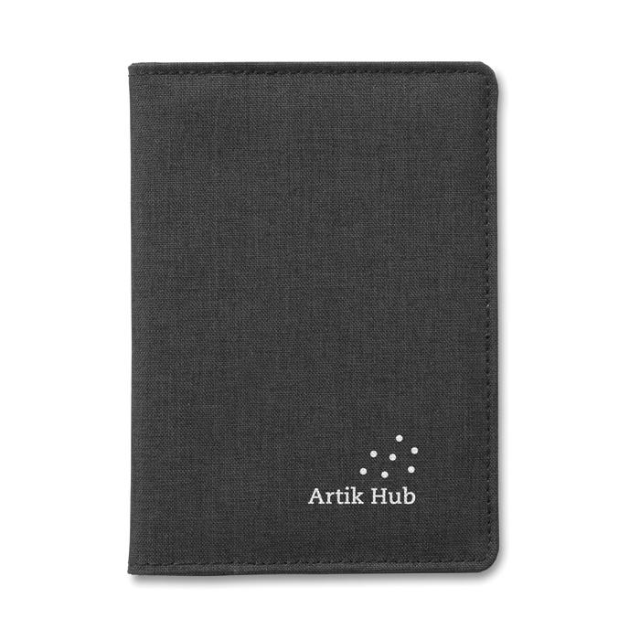 Portefeuille publicitaire pour passeport Shieldoc anti-RFID - Cadeau d'entreprise