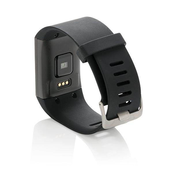 Bracelet connecté personnalisable E-ink Multisport noir - cadeau publicitaire high-tech