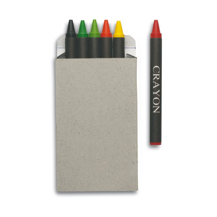 Cadeau publicitaire - Etui de 6 crayons cire
