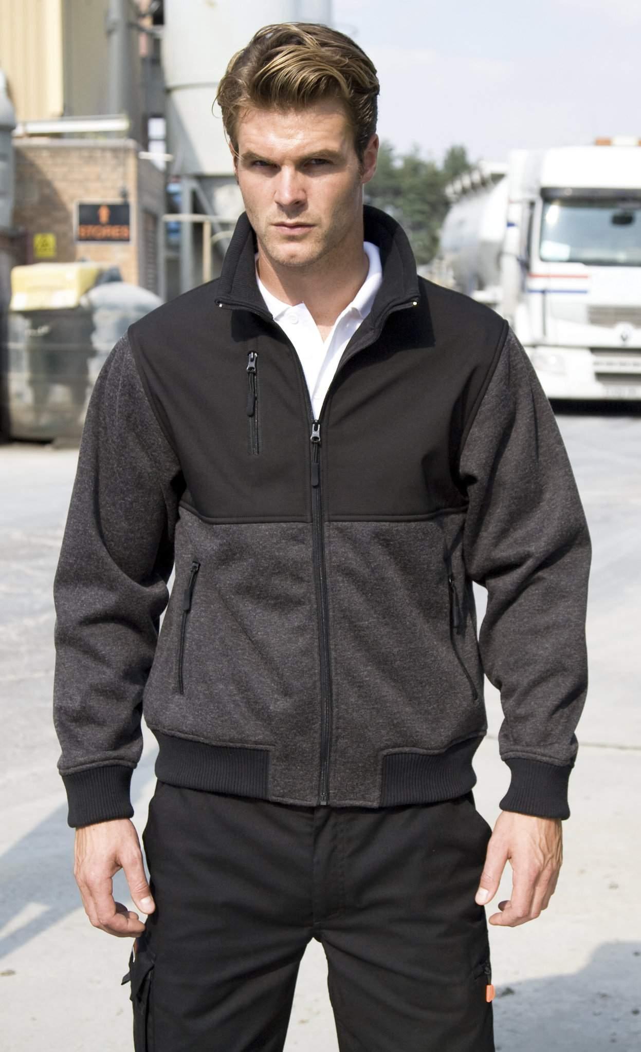Veste personnalisable Brink grey marl black - cadeau d'entreprise