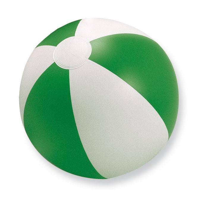 Ballon de plage publicitaire Playtime blanc/vert - objet publicitaire