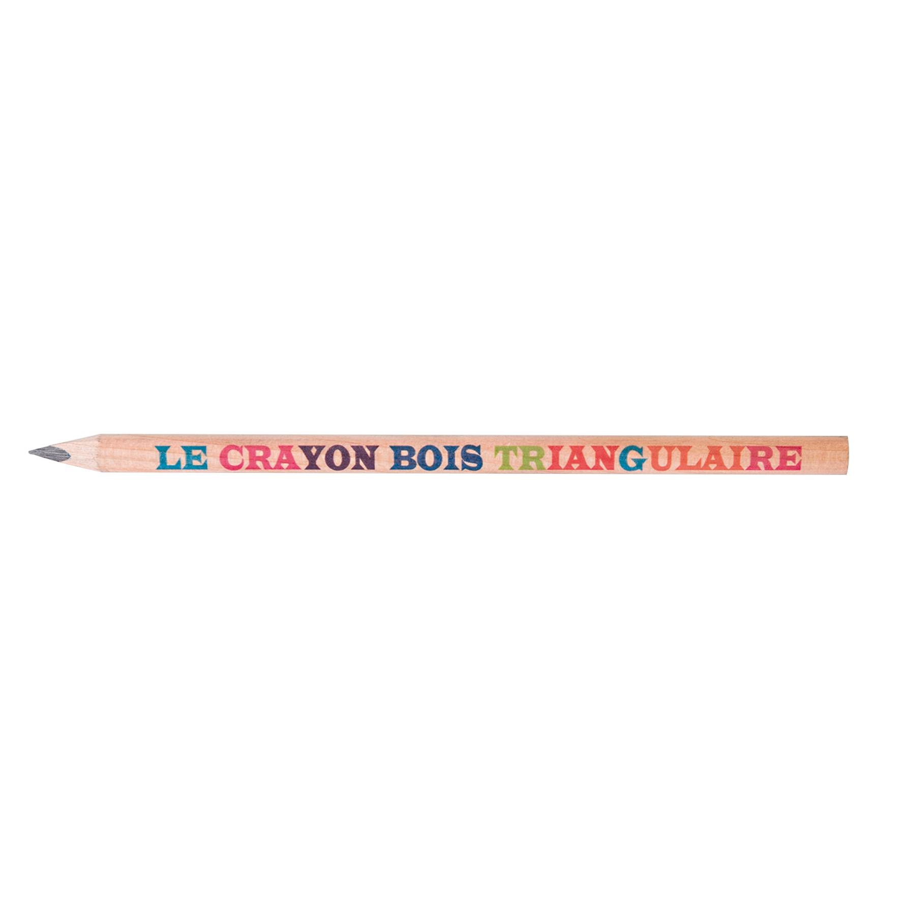 crayon de bois publicitaire triangulaire Prestige - objet publicitaire écologique