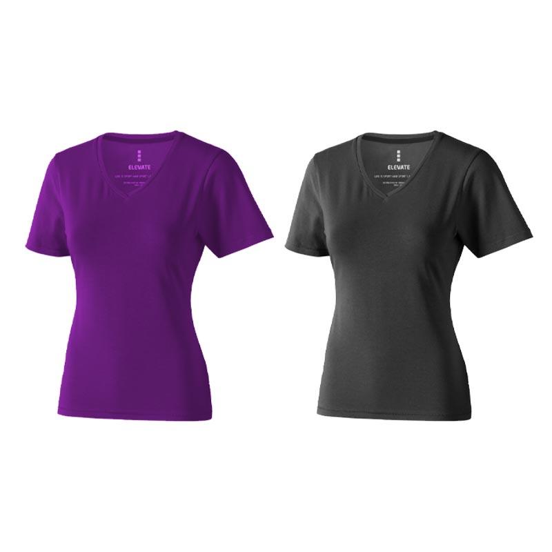 Textile personnalisé - T-shirt bio personnalisé manches courtes pour femmes Kawartha