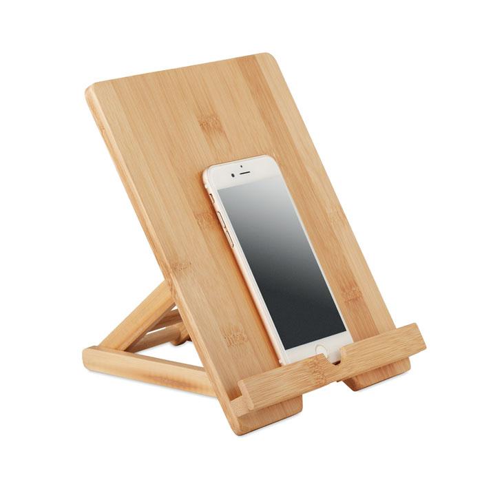 Support pour tablette et téléphone publicitaire en bambou Tuanui 3