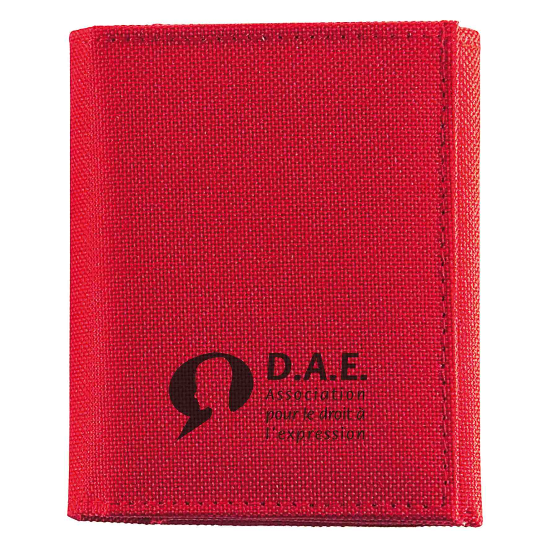 Goodies - Porte-Monnaie publicitaire multipoches Polyester - rouge