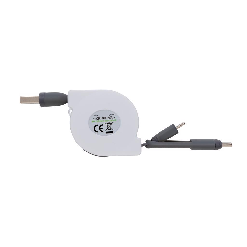câble de recharge personnalisable Akly - accessoire high-tech publicitaire