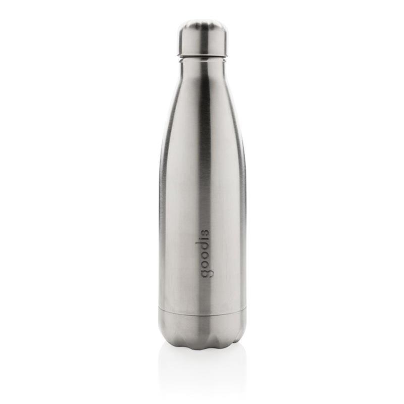 bouteille isotherme personnalisée en inox drinox - coloris argent