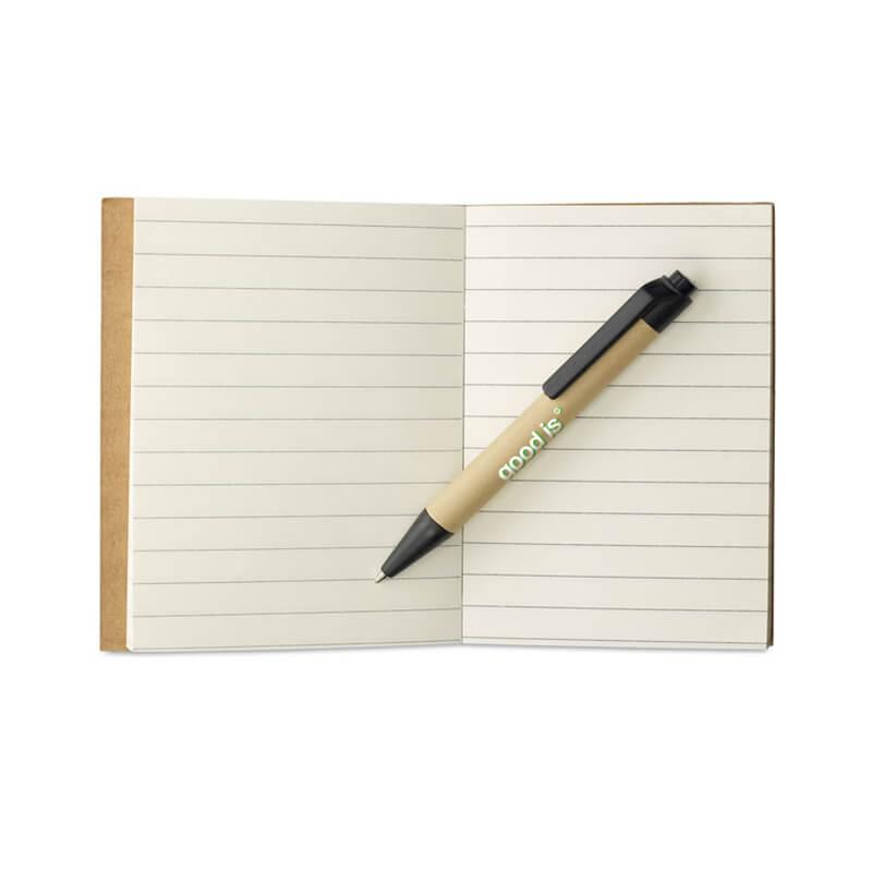 Goodies écologique - Bloc-notes et mini-stylo Cartopad