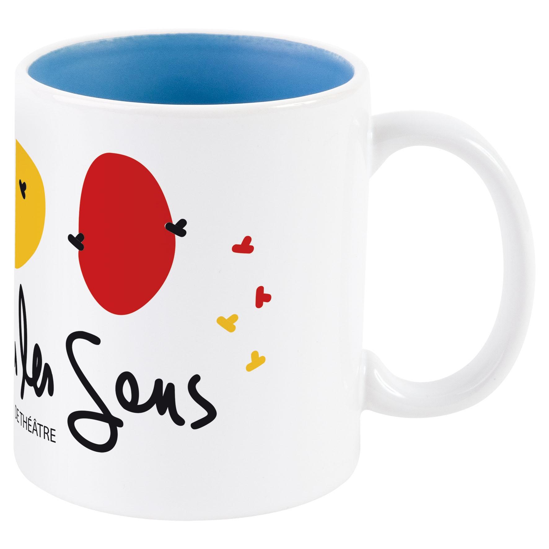 Objet promotionnel - Mug publicitaire Bicolore pour sublimation 31 cl