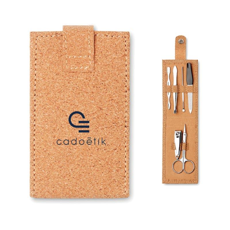 Goodies bien-être - Kit de manucure publicitaire Nailkitcork