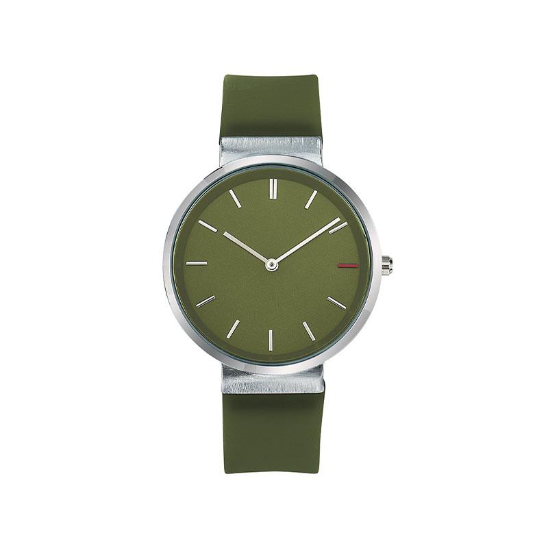 Montre publicitaire Slide avec bracelet vert