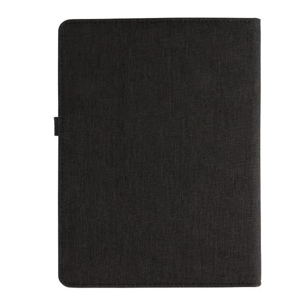 Cadeau publicitaire -Housse personnalisable à carnet de notes A5 avec powerbank et clé USB Kyoto