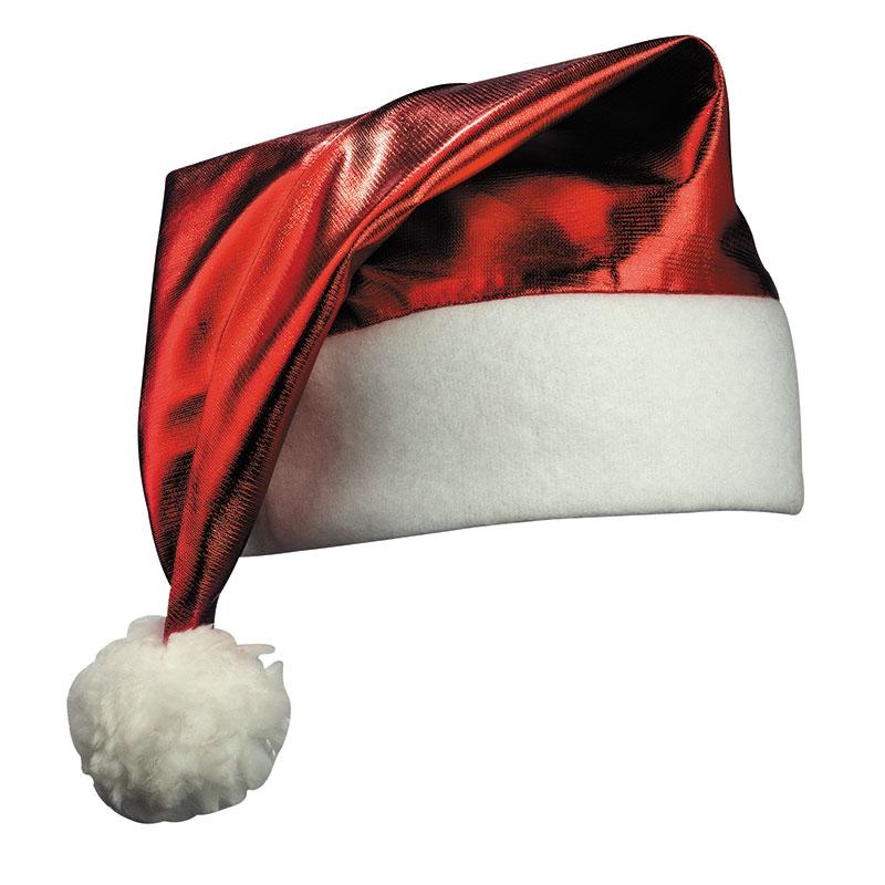 Goodies - Bonnet de père Noël brillant publicitaire - rouge