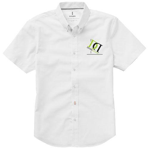 Chemise manches courtes blanche personnalisable