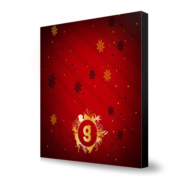 Goodies Noël pour entreprise - Calendrier de l'Avent personnalisable Billes