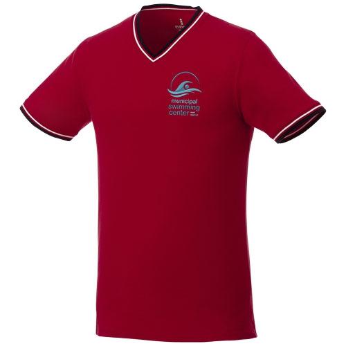 T-shirt personnalisé col C coton bleu Elbert