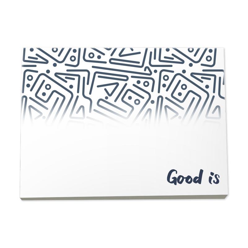 BIC® Bloc-notes de 25 feuilles adhésives en papier recyclé 101mm x 75 mm