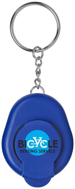 Porte-clés publicitaire décapsuleur Cappi bleu